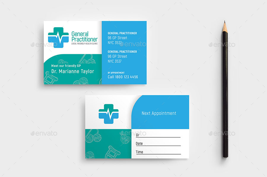 medical appointment card template free.html
