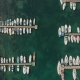 Aerial View Boats on a Dock - VideoHive Item for Sale