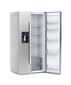 Silver big refrigerator with opened door - PhotoDune Item for Sale