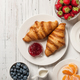 Breakfast with croissants, coffee, jam and berries  - PhotoDune Item for Sale