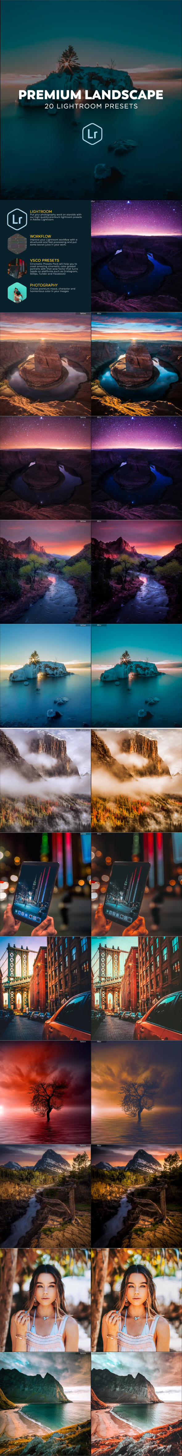 20 Premium Outdoor Lightroom Presets - Landscape Lightroom Presets