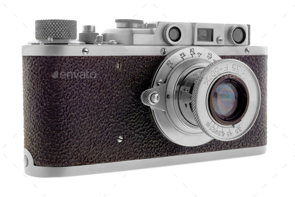 Classic rangefinder camera - Stock Photo - Images