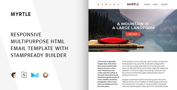 Myrtle – Responsive Email + StampReady Builder & Mailchimp