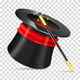 Magician Hat with Wand - GraphicRiver Item for Sale