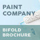 Paint Company Bifold / Halffold Brochure - GraphicRiver Item for Sale
