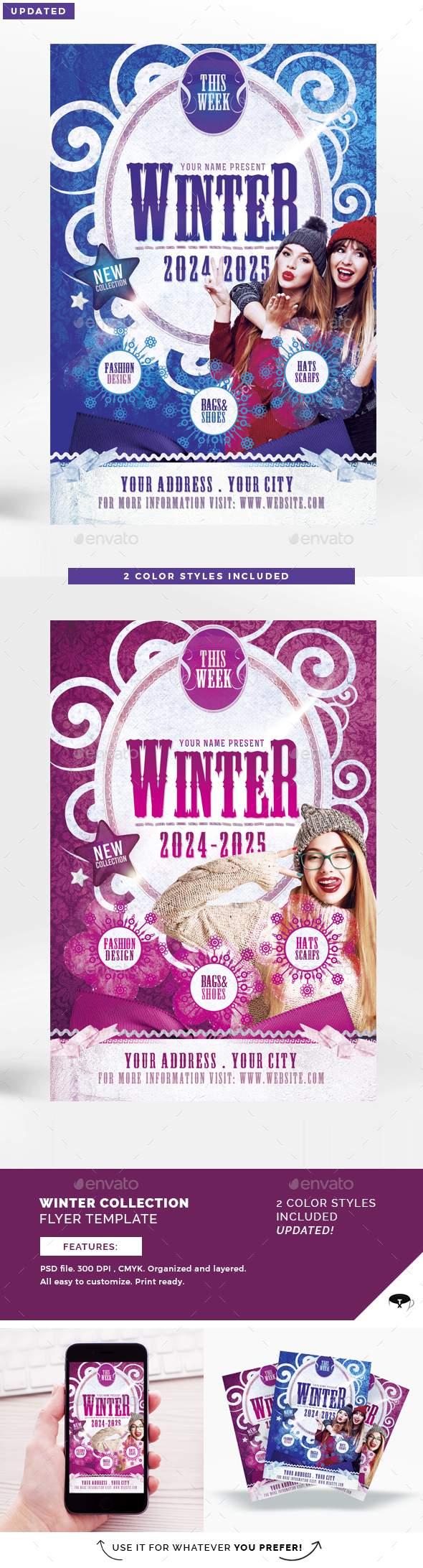 Winter Collection Flyer Template - Commerce Flyers