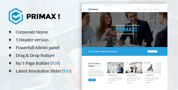 Primax - Multi-Purpose Joomla Template - Corporate Joomla