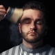 Hairdresser Cleans Man's Neck After Cutting Hair - VideoHive Item for Sale