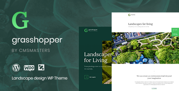 Grasshopper - Landscape Design and Gardening Services WP Theme - Business Corporate