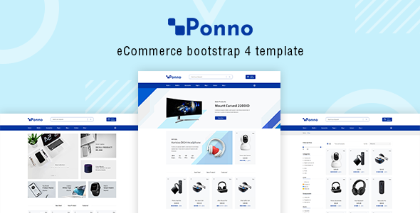 Ponno - Electronics eCommerce Bootstrap 4 Template
