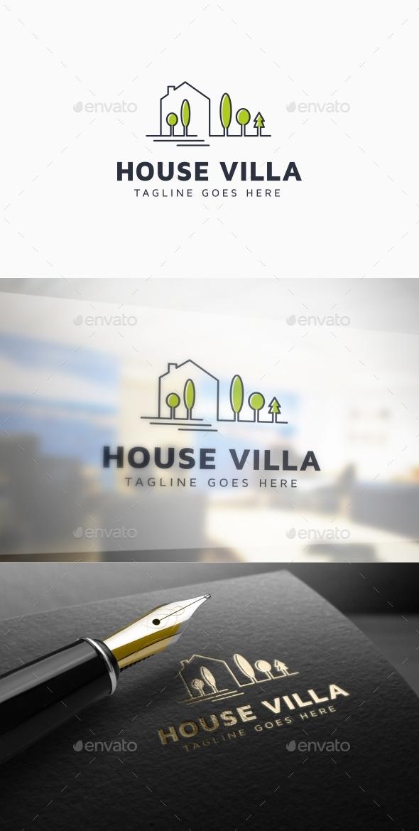 House Villa Logo Template - Buildings Logo Templates