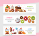 Cartoon Sweet Products Horizontal Banners - GraphicRiver Item for Sale