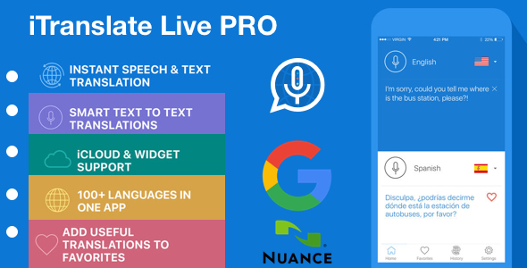 [WHITE Label] iTranslate Live Pro - Instant Speech & Text Translation            Nulled
