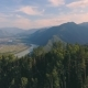 Flight Over the Mountains. Altai. Siberia. Flying Over the River. Forest Valley. Morning Fog - VideoHive Item for Sale