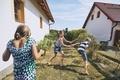 Children having fun with splashing water - PhotoDune Item for Sale