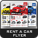 Rent a Car Flyer Templates