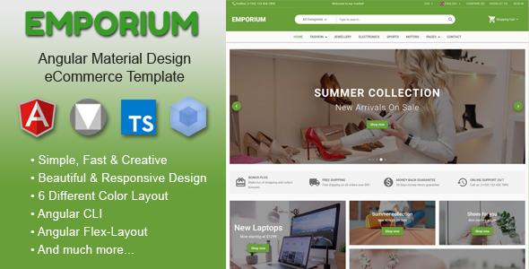 Emporium - Angular Material Design eCommerce Template - Shopping Retail