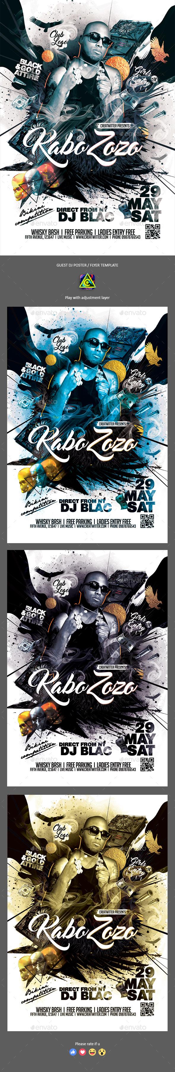 Street Artist Poster / Flyer - Clubs & Parties Events