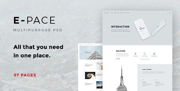 E-Pace - Multipurpose PSD Template - Corporate PSD Templates