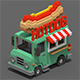 Voxel HotDog Van - 3DOcean Item for Sale