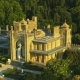 Crimea. Aerial View of Vorontsov Palace. It Is One of the Main Landmarks of Crimea. Super  Fligh - VideoHive Item for Sale