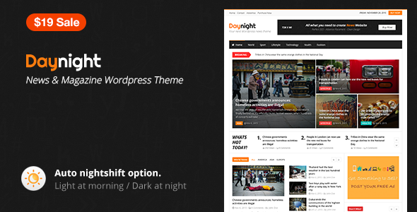 Daynight Magazine - Magazine Theme - News / Editorial Blog / Magazine