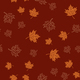 Autumn seamless pattern with brown maple leaves on red backgroun - PhotoDune Item for Sale