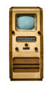 Isolated Vintage TV - PhotoDune Item for Sale