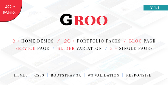 Groo - Multipurpose Business, Finance and Professional Services HTML5 Template - Corporate Site Templates