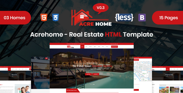 Acrehome - Real Estate HTML Template - Business Corporate