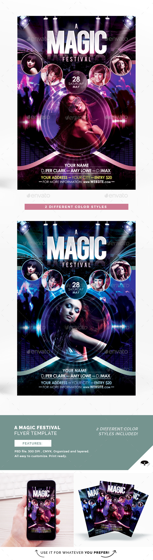 A Magic Festival Flyer Template - Flyers Print Templates