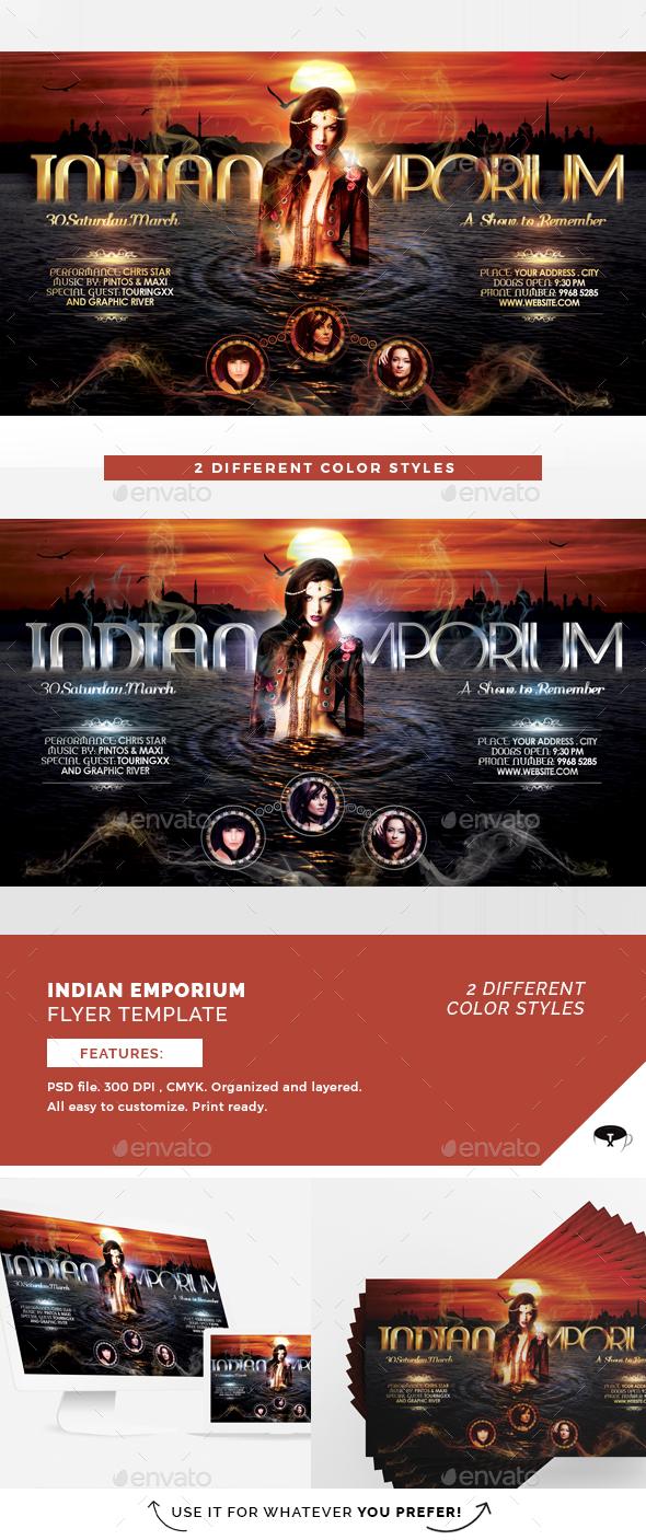 Indian Emporium Flyer Template - Flyers Print Templates