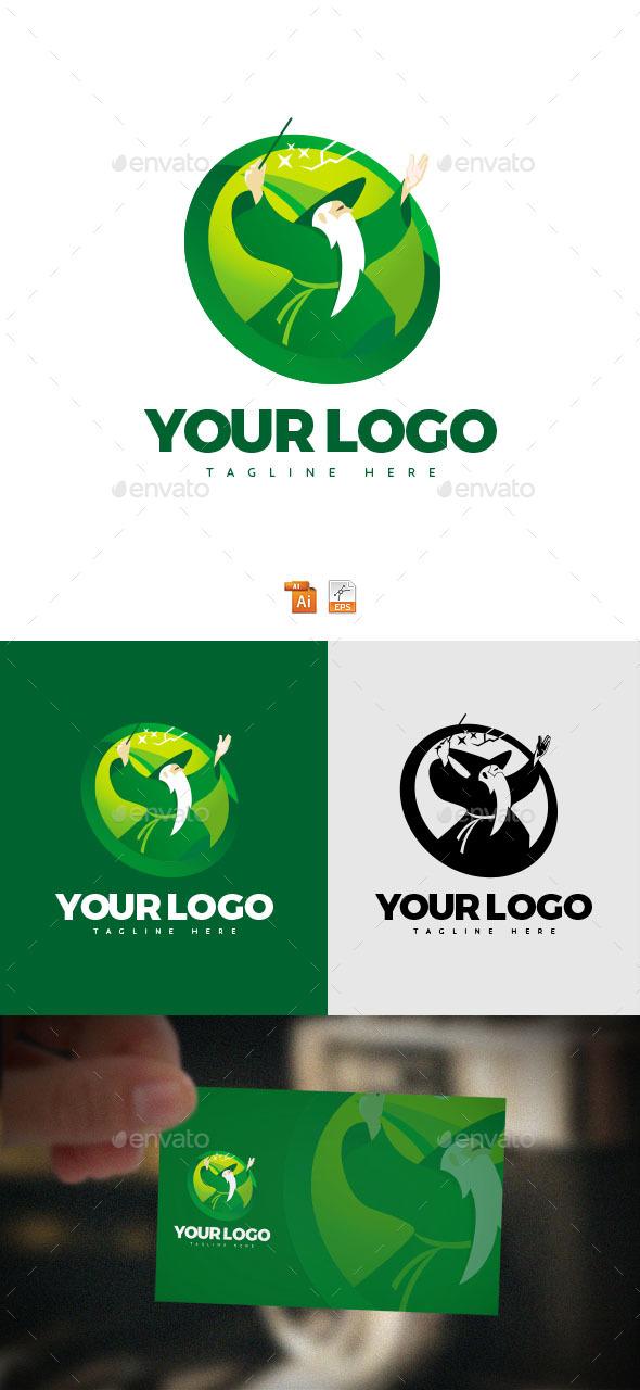 Wizard old man Logo - Humans Logo Templates