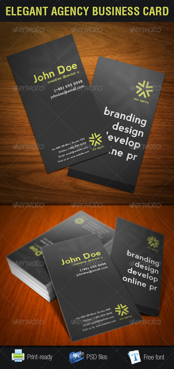 Elegant Agency Business Card - Corporate Business Cards