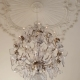 A Vintage Chandelier on White Ceiling in Old Castle - VideoHive Item for Sale