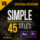 45 Gold Simple Titles (Special Edition) - VideoHive Item for Sale