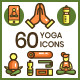 60 Yoga Icons - GraphicRiver Item for Sale