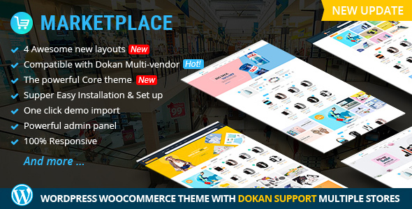 Marketplace WP Theme support Dokan Multi Vendors