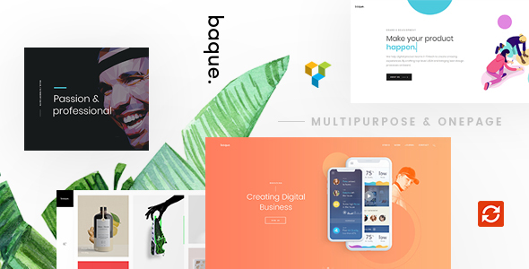 Image of Baque - Multipurpose Onepage Creative WP Theme