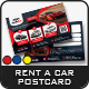 Rent a Car Postcard Templates