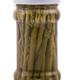 Jar with preserved green asparagus, isolated on white - PhotoDune Item for Sale