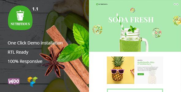 Nutritious - Organic food Drink WooCommerce Theme - WooCommerce eCommerce