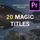 Magic Titles for Premiere Pro - VideoHive Item for Sale