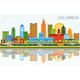 Columbus Ohio City Skyline with Color Buildings - GraphicRiver Item for Sale