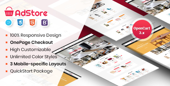 AdStore - Multipurpose Responsive OpenCart Theme - OpenCart eCommerce