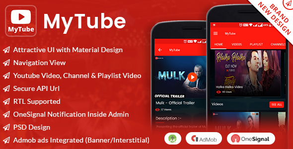 MyTube App with Material Design            Nulled