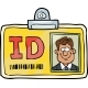 Cartoon Identification Card