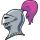 Cartoon Knight Helmet