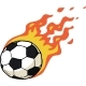 Fire Soccer Ball