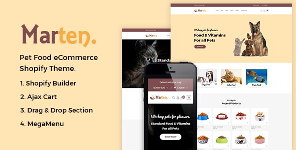 Marten - Pet Food Shopify Theme + RTL + Dropshipping - Shopping Shopify